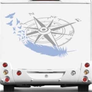 Wohnmobil Dekor Kompass Mit Feder