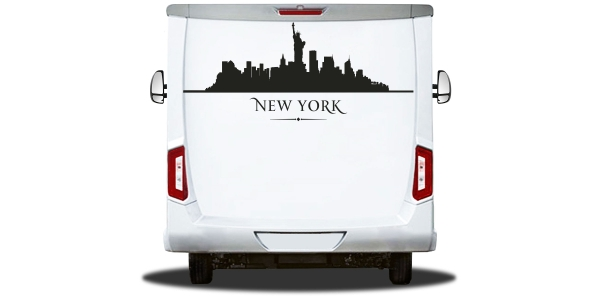 Wohnmobilsticker Skyline New York