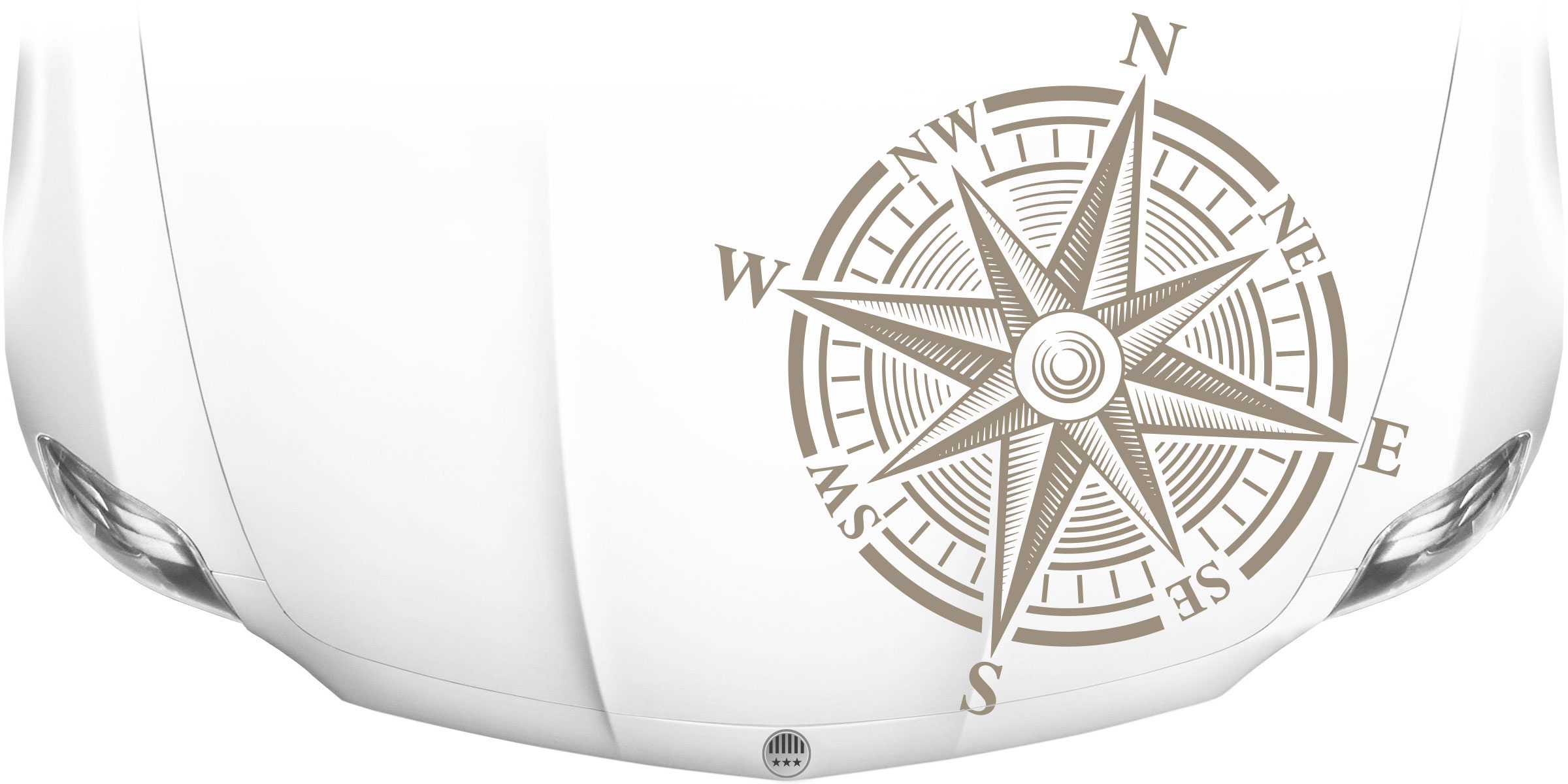 Aufkleber Motorhaube Kompass Moderner Autosticker