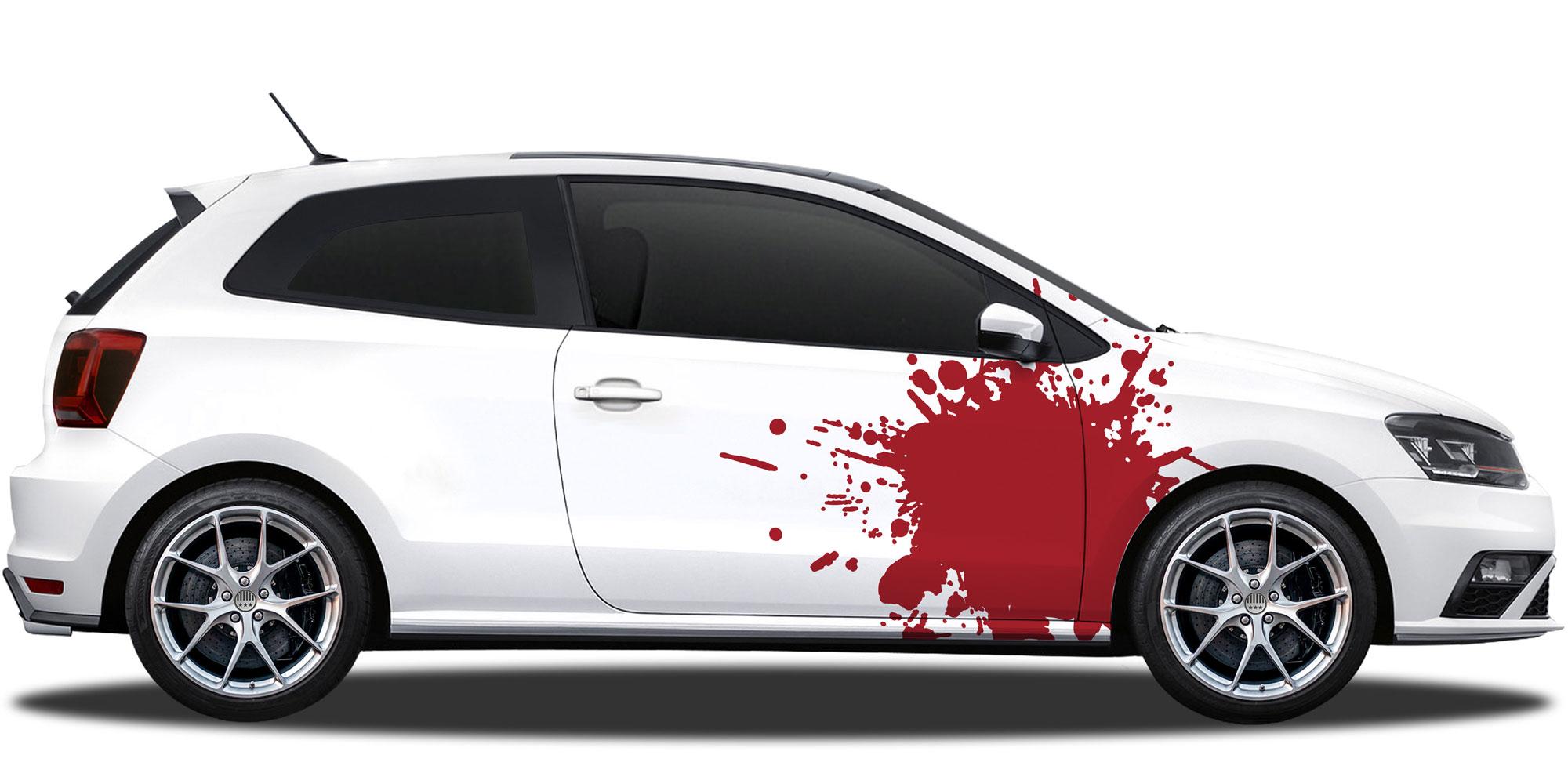 Auto Aufkleber Farbspritzer
