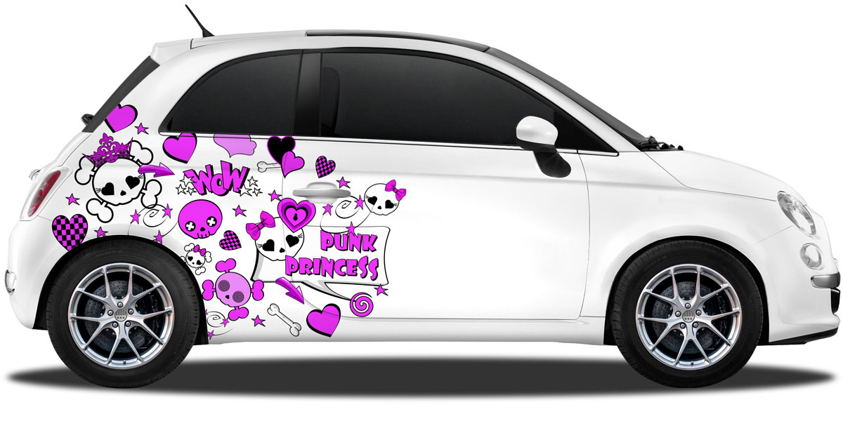Aufkleber Für Auto Totenkopf Prinzessin
