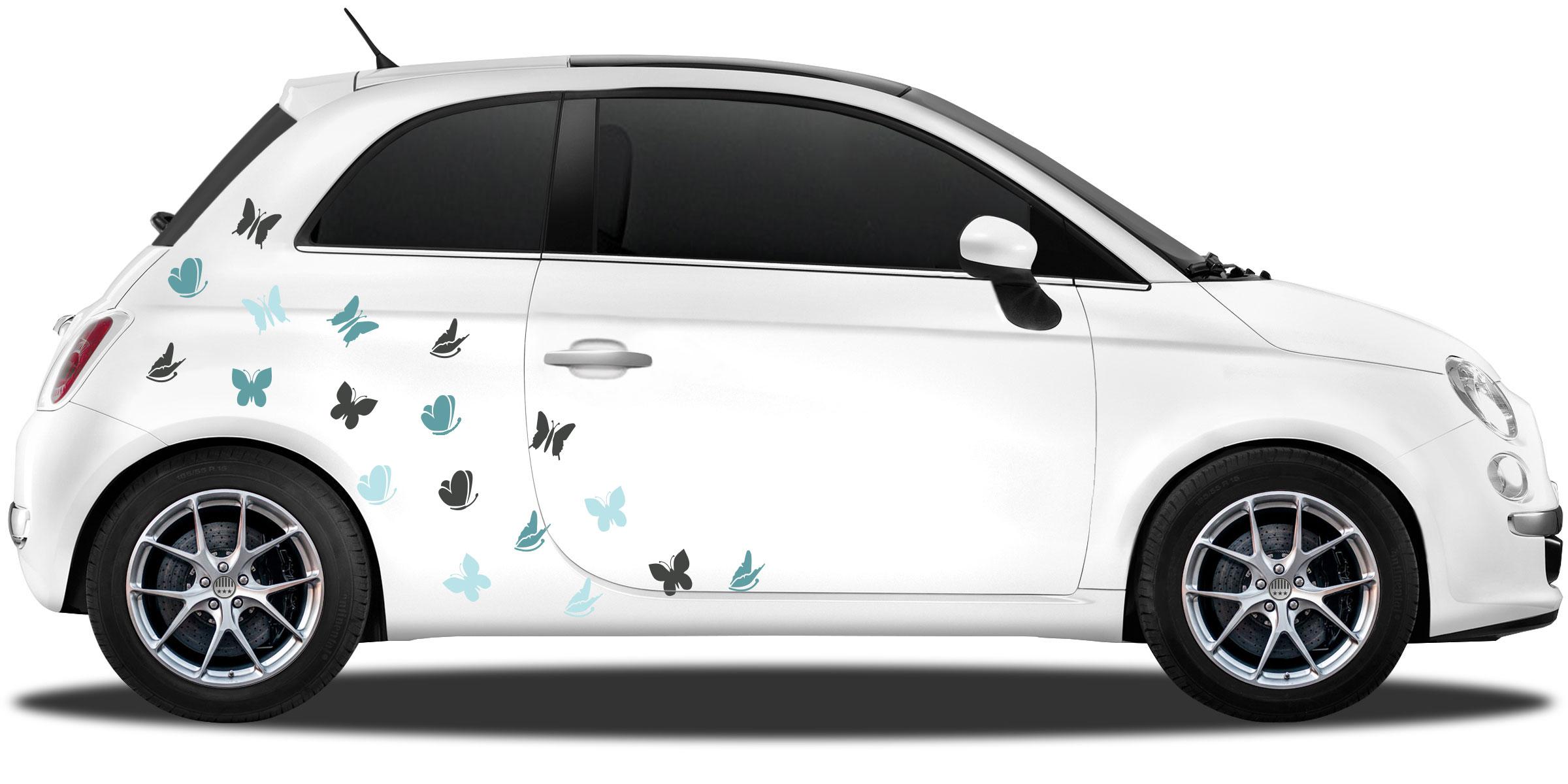 Autoaufkleber Bunte Schmetterlinge Tolles Autodekor