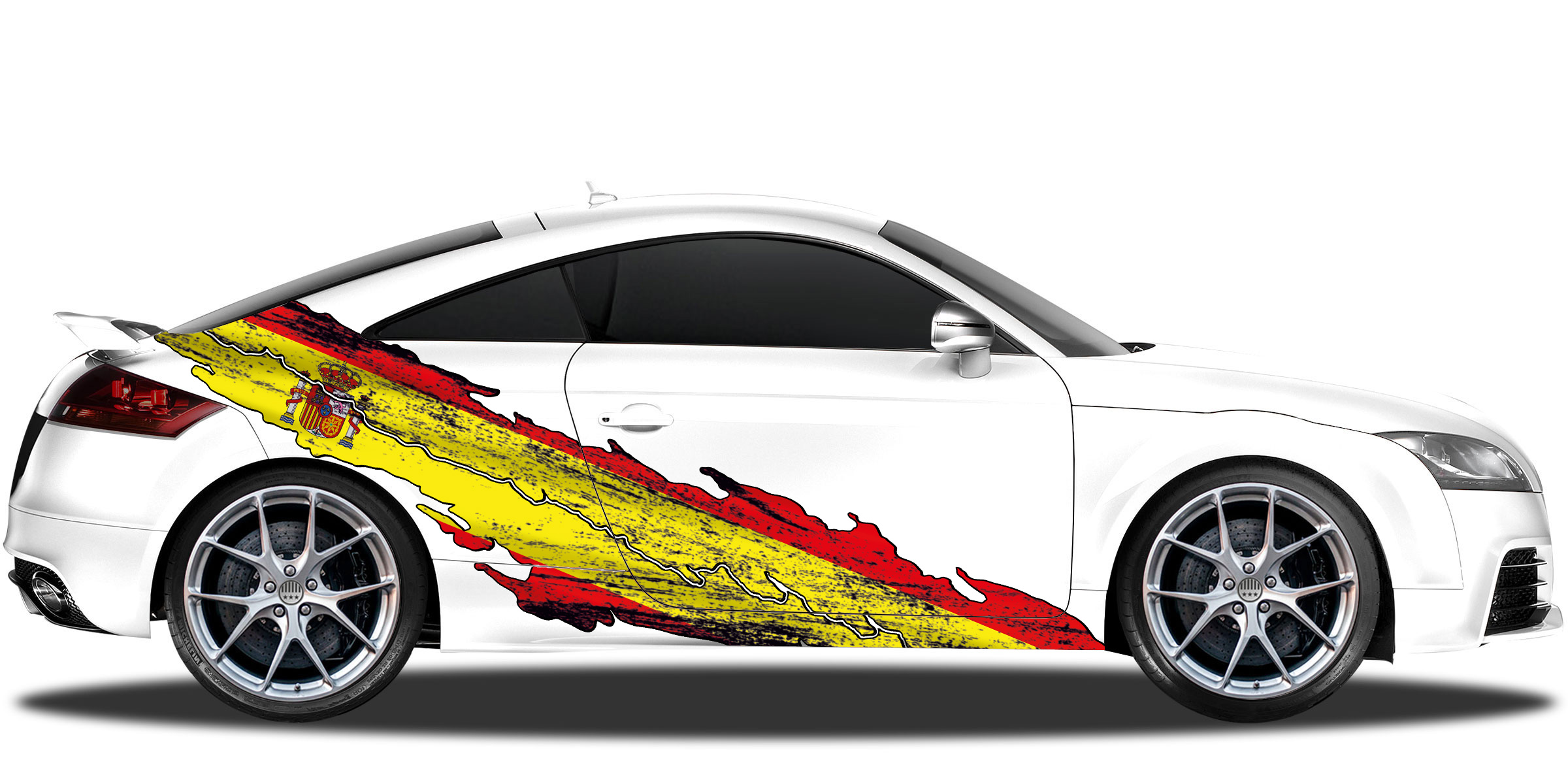 Auto Aufkleber Flagge Spanien