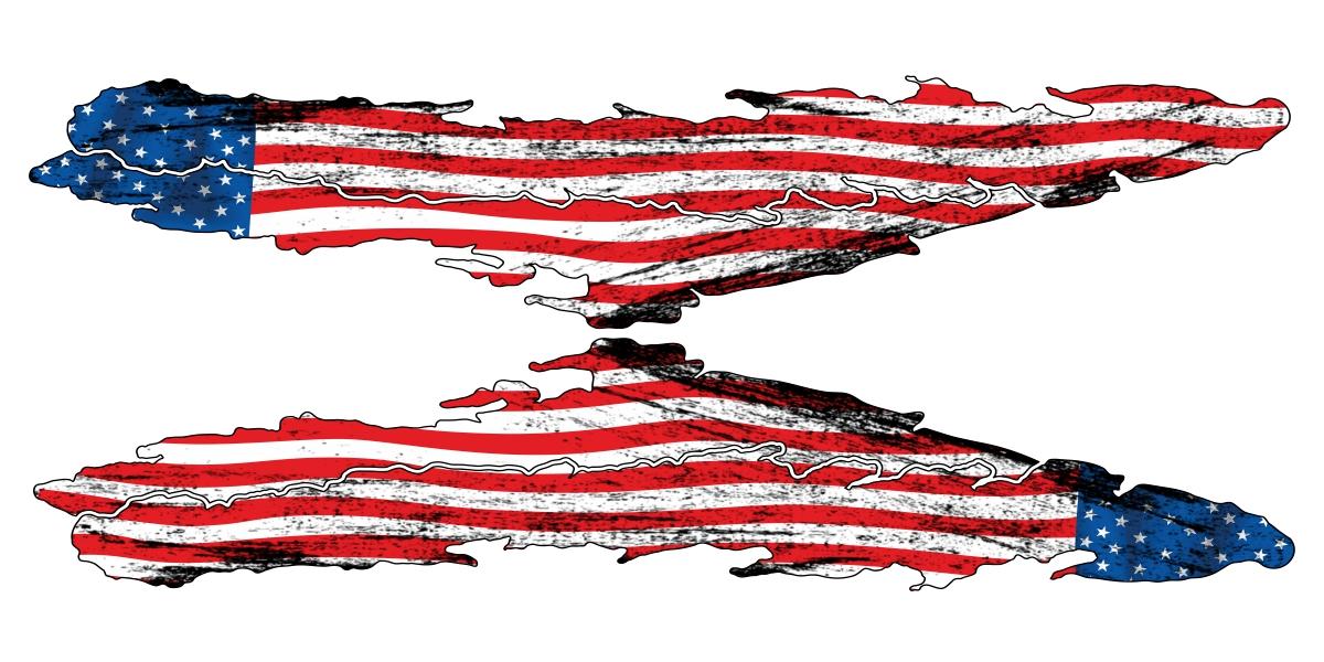 Autosticker Flagge Usa