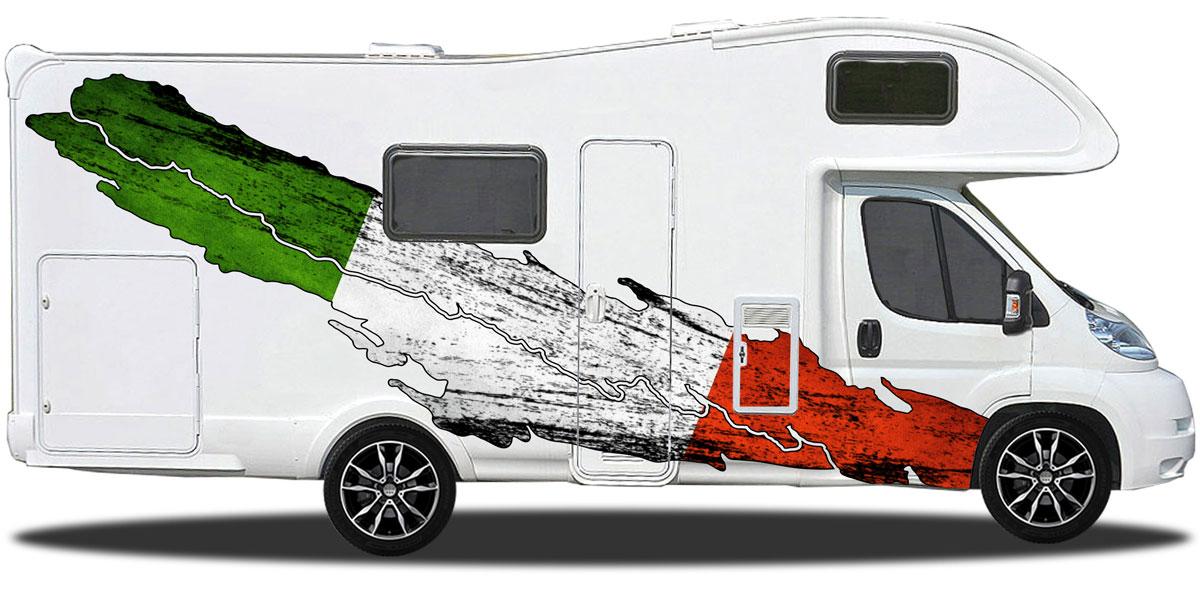 Wohnwagen Sticker Die Flagge Italiens
